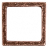 Metal 15.5mm Square Frame With 2 Hole Antique Copper